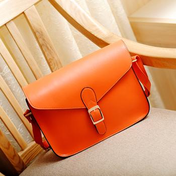 2014 spring women's bag color block cross-body bags women's cross-body handbag vintage messenger bag shoulder bag