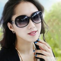 Women's fashion large frame sun glasses polarized sunglasses star elegant all-match sunglasses myopia sunglasses