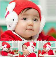 FREE SHIPPING Retail 1 Pcs  baby winter cap Cartoon rabbit Cotton infant kids hats children baby hat  photography props for sale