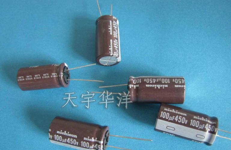450v 100uf 18X35 electrolytic capacitors original and new nichicon(China (Mainland))
