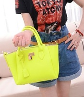 Free shipping,  2013 handbag one shoulder cross-body neon color women's bags smiley small lock bags  designer bag
