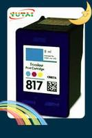 Free shipping C8817A Compatible Color Inkjet Cartridges for hp817 DeskJet 3538,3558,3658,3668,3743,3748,3848,3918