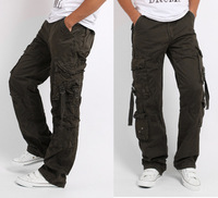 Hot selling 2013 Men casual cargo pants High Quality Mens sport Cargo pants Military Army pants men Size:29-38