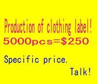 Men and women produce customized clothing label tag label printing custom clothes clothing free design trademark /wdx492