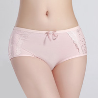 Cotton 100% cotton mid waist female panties panty sexy lace briefs d232 female