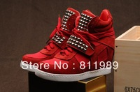 2013 Free shipping fashion ladies boots High quality  women's shoes  elevator fashion rivet boots scrub leather shoes
