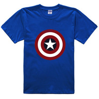 camisa Pelicula Halloween coslplay costume the The Avengers Captain America summer T-shirt short sleeves