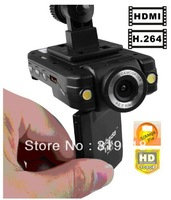 "Clearance Sale H198 Car Recorder with 120 Degree View Angle+2.5"" LCD+6 IR LED+Night Vision Car Camera Recorder"