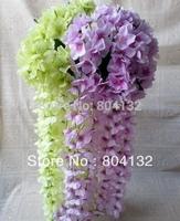 4pcs 80cm Length Artificial Simulationl Hydrangea Garlands Wedding Flowers Fabric Wreath Home Party Floral Vine Decorations