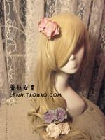 Fashion Korean 2style hand made chiffon fabric flower boutique hair bows with clips hair accessories for women hair clip