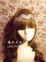 Fashion korean style hand made silver litter elastic headbands dance hair bands hair accessories for women children accessories