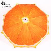 Fresh fruit orange anti-uv sun protection sunscreen umbrella folding umbrella pencil umbrella sun umbrella