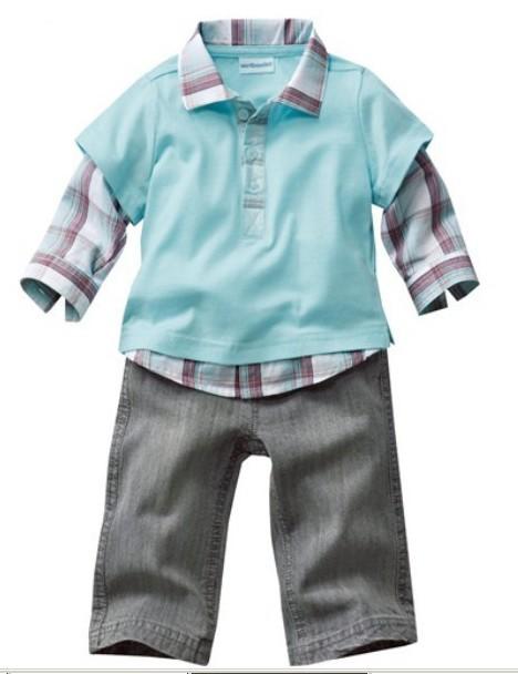 1pcs retail! 2013 New children's wear boy's suits autumn handsome checked suit long-sleeved suit lapel(China (Mainland))