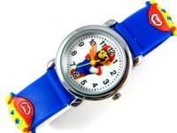 blue 3D Cartoon Super Mario Watch For Children Kids Girls Boys Students Quartz Wrist Watches, Free & Drop Shipping.