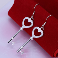 E135 Wholesale 925 silver earrings, 925 silver fashion jewelry, Heart Shape Spoon Earrings /bbuajtbask