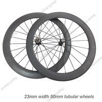 FREE SHIPPING 50mm tubular bike wheelset 700c carbon fiber road Racing bicycle wheels