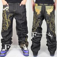 Hip hop summer fashion Loose skateboard  pants men sport trousers cargo pant male casual sweatpants denim  jeans plus size  XXXL