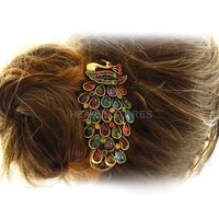 Retro Temperament Gorgeous Peacock Hairpin Clip hv3n