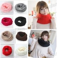 Hot Sale!Fashion New Unisex Winter Knitting Wool Collar Neck Warmer Scarf Shawl 9 Colors Free Shipping 1pcw/lot