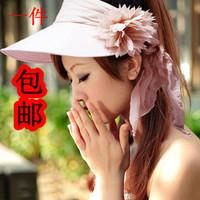 Hat summer sunbonnet female folding spring and autumn sun hat beach cap big sun hat