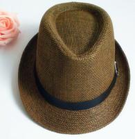 Fashion male strawhat jazz hat female summer fashion hat fedoras sunbonnet lovers beach cap