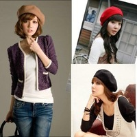 2012 winter beret painter cap bucolics hat pure sheep knitted hat women's