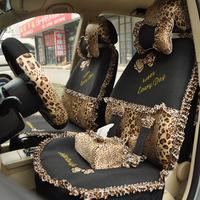 Regal 2013 car seat covers bow viscose summer cartoon car seat cover leopard print lace