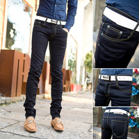 Limited Time free shipping 2013 Personalized Men's Jeans Fashion Design Men's Skinny Jeans Men's Slim pants feet show thin jeans