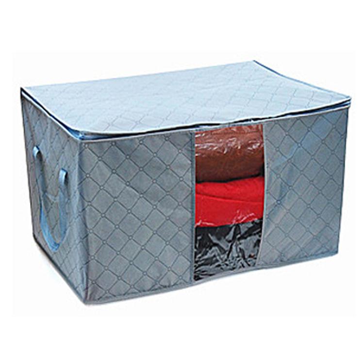 FREE SHIPPING news Beightening charcoal Large windows belt clothing storage bag clothes sorting bags 75l storage box finishing(China (Mainland))