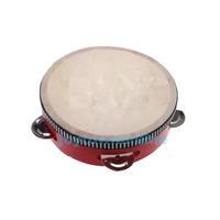 Educational Red  Musical Tambourine Beat Instrument Hand Drum Children #1JT