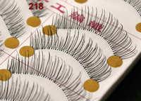 10 Pairs Handmade Fake False Eyelash Natural Look Transparent Stem Invisible Clear Band free shipping 218