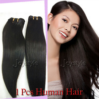1pcs/lot Brazilian Virgin Hair Natural Straight remy human weaves weft extensions 10''-30'' natural color Free shipping
