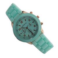 Geneva watch silica gel jelly watches watch rose gold plastic sheet