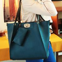 Fashion 2013 summer female bags messenger bag vintage blue big buns