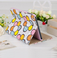 Sunflower original brand leather case for the apple tablet ipad 4 3 2 mini design back covers bumper cute cases 1 piece retail