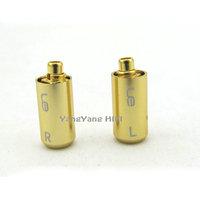 Diy Parts for Shure SE535 SE425 SE315 SE215 Earphone Pins + Cover aluminium golden  Kits