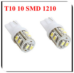 T10 W5W 194 168 501 Car 10 SMD 1210 LED turn signal Inverted Side Wedge parking Light side marker Bulb 12V white(China (Mainland))