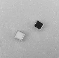 Free Shipping(no min order)Stud earring black and white square magnet Stud earring Square No Pierced  magnet stud earring