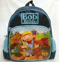 Free shipping EMS High Quality Nylon Bob the builder Backpack Child School Bag wholesale