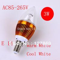 3w Led Highlight E14Led Energy Saving Bulb Small Screw-mount Crystal CoverSstatuesque AC85-265v  Free shipping