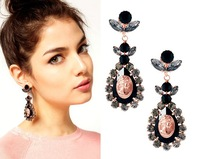 Min.order is $15 (mix order)Free Shipping May 2014 New Fashion Pink Vintage Royal Drop Earrings Charm Jewelry