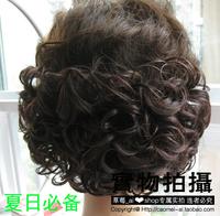 Quinquagenarian wifing bun short hair curly hair bun hair piece  free shipping