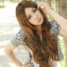 Longos cabelos crespos peruca de cabelo crespo frete grátis doces n?o-mainstream longos encaracolados peruca de cabelo meninas franja grande(China (Mainland))