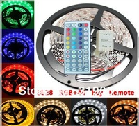 3528 RGB 5M 300 LEDs NON-Waterproof Light Strip SMD 60led/meter+44 key IR Remote Controller