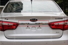 2011 2012 KIA Rio K2 4dr ABS Chrome Rear Trunk Lid Cover Trim Free shipping