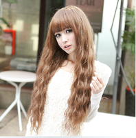 New arrival girls wig hot corn wig long roll wave fluffy corn  free shipping