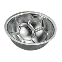 DIY Non-toxic Aluminum Birthday Cake Baking Jello Chocolate Football Pan Mold K5