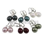 Free Shipping  5Pairs/Bag mixed colors South Sea Shell Earring Teardrop Earring Fashion Earring Wholesale