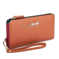 Free Shipping Yellowish Brown Noble Series Ladies Leather Wallet