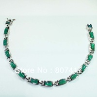 Greenagate stone Fashion Trendy S 925 silver Bracelet  B0621